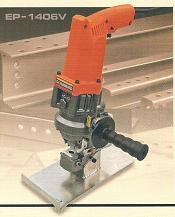 Click here for more about the EP-1406V portable hydraulic steel punch