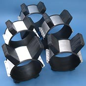Casing Spacers for trenchless crossings centre oil, water and sewer pipes in casings with ease of installation